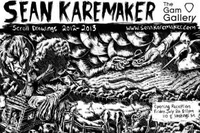 Sean Karemaker: Scroll Drawings