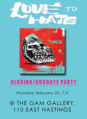 Love to Hate: Closing Reception/Farewell Party